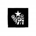 Fist and Star – Aufnäher