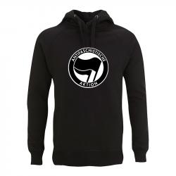 Antifaschistische Aktion - schwarz/schwarz – Kapuzenpullover N50P