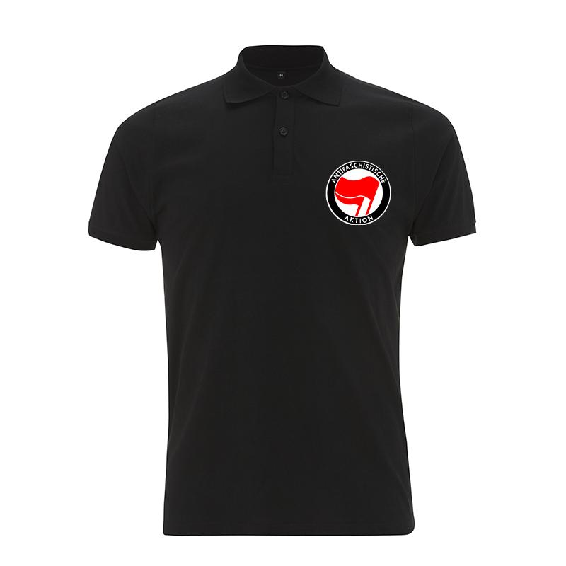 Antifaschistische Aktion - rot/rot – Polo-Shirt N34