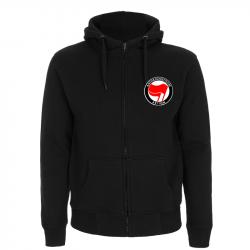 Antifaschistische Aktion - rot/rot – Kapuzenjacke N52Z