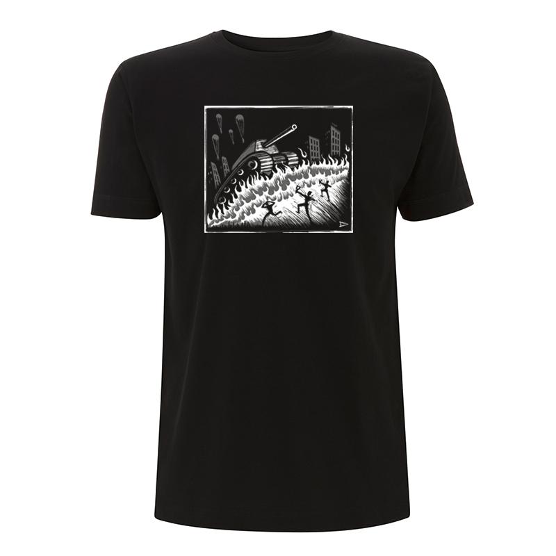 Drooker Slingshots vs Tank – T-Shirt N03