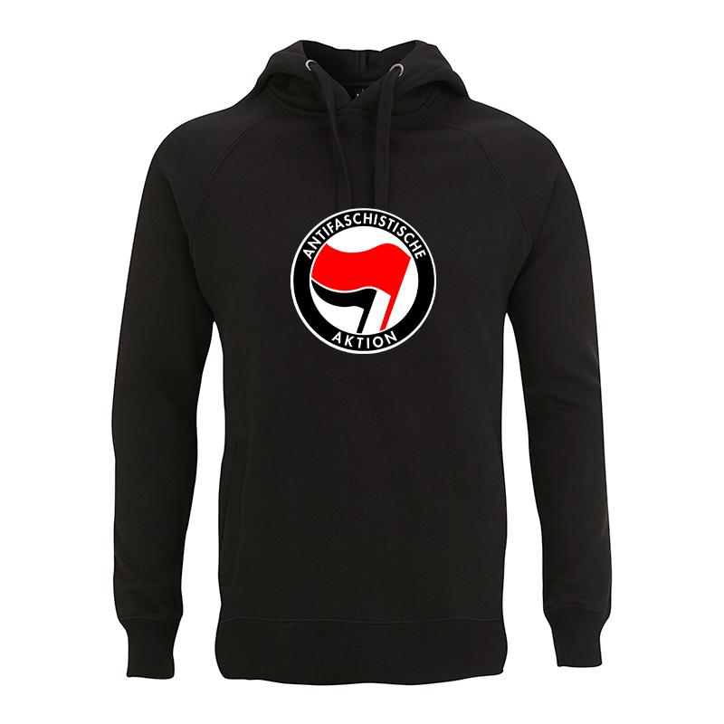 Antifaschistische Aktion - rot/schwarz – Kapuzenpullover N50P