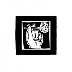 Streichholz – Aufnäher