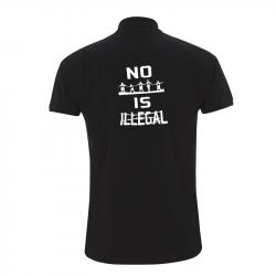no human is illegal – Polo-Shirt  N34