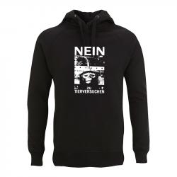 Nein zu Tierversuchen – Kapuzenpullover N50P