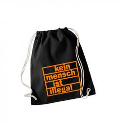 Kein Mensch ist illegal orange– Sportbeutel WM110