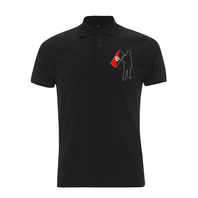 Anarchist and Flag – Polo-Shirt  N34