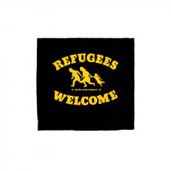 Refugees Welcome - Aufnäher gelb