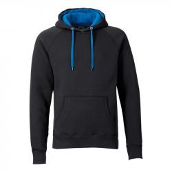 Kapuzenpullover REBEL unisex - schwarz/blau - SONAR CLOTHING