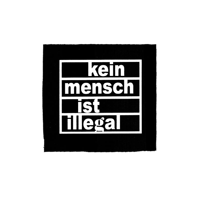 Kein Mensch ist illegal – Aufnäher
