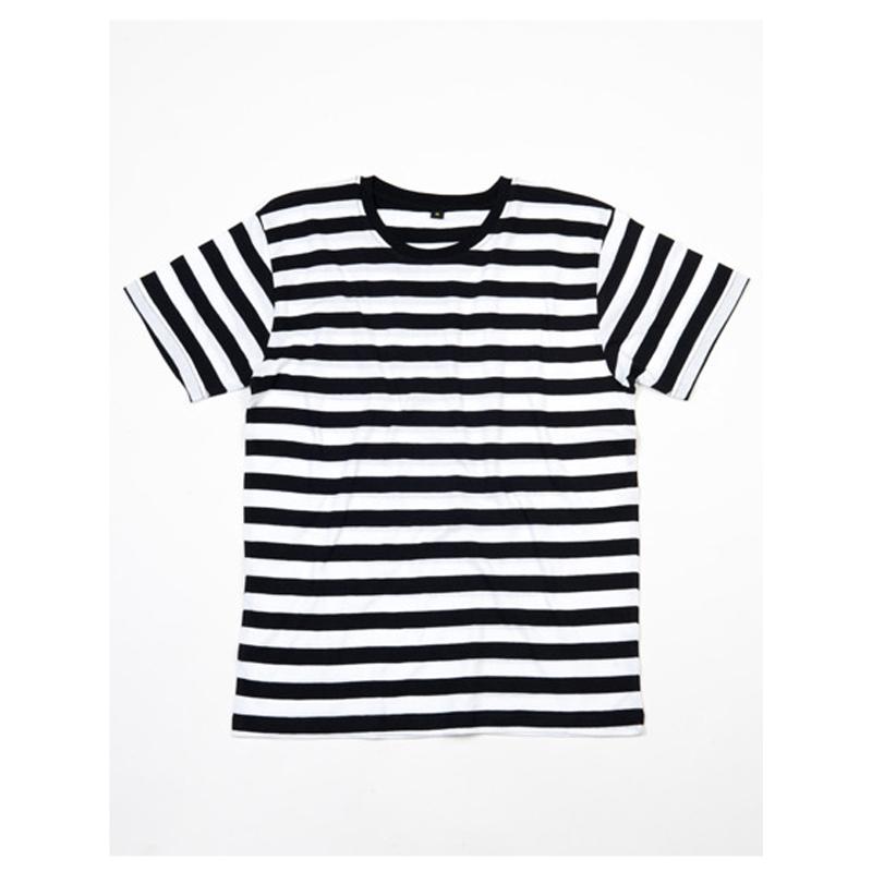 Stripy T-Shirt   - Black / White