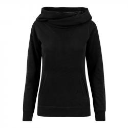 Taillierter Kapuzenpullover - schwarz - URBAN CLASSICS