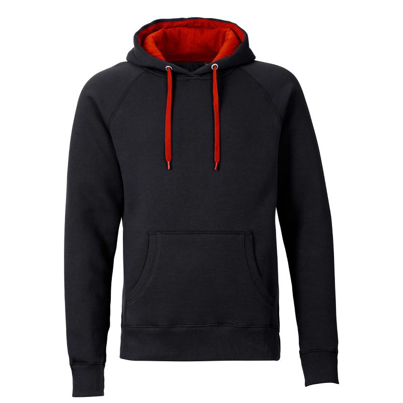 Kapuzenpullover REBEL unisex  - schwarz/rot - SONAR CLOTHING