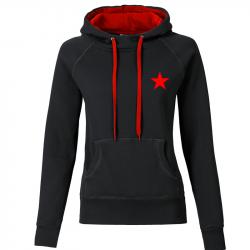 Star - Kapuzenpullover REBEL tailliert - schwarz/rot