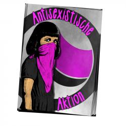 Antisexistische Aktion - Aufkleber - 30 Stück