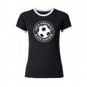 Love Football - Hate Racism - tailliertes Contrast-Shirt tailliert schwarz/weiß