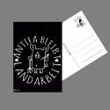 Antifa bleibt Landarbeit - Postkarte