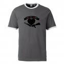 Love Not War - Contrast-Shirt grau/weiß