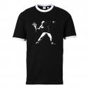 Banksy Flowers - Contrast-Shirt schwarz/weiß