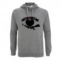 Love Not War - grauer Kapuzenpullover - Continental N50P