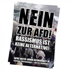 Nein zur AfD! Rassismus ist keine Alternative- Infonordost