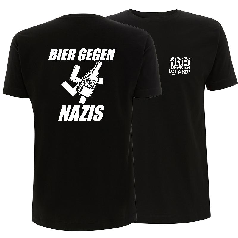 Freidenkeralarm - Bier gegen Nazis - unisex T-Shirt
