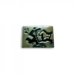 Arschloch aufs Maul, Metal-Pin