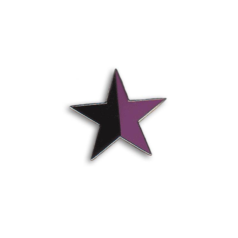 Stern - schwarz/lila, Metal-Pin