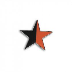 Stern, rot/schwarz - Metal-Pin