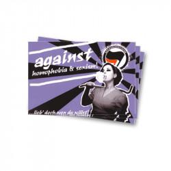 Against Homophobia & Sexism - Aufkleber - 30 Stück
