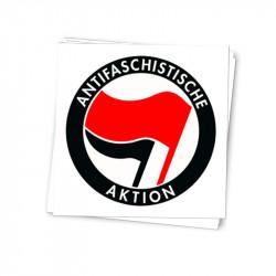 Antifa Aktion - der Klassiker auf weiß - Aufkleber - 30 Stück