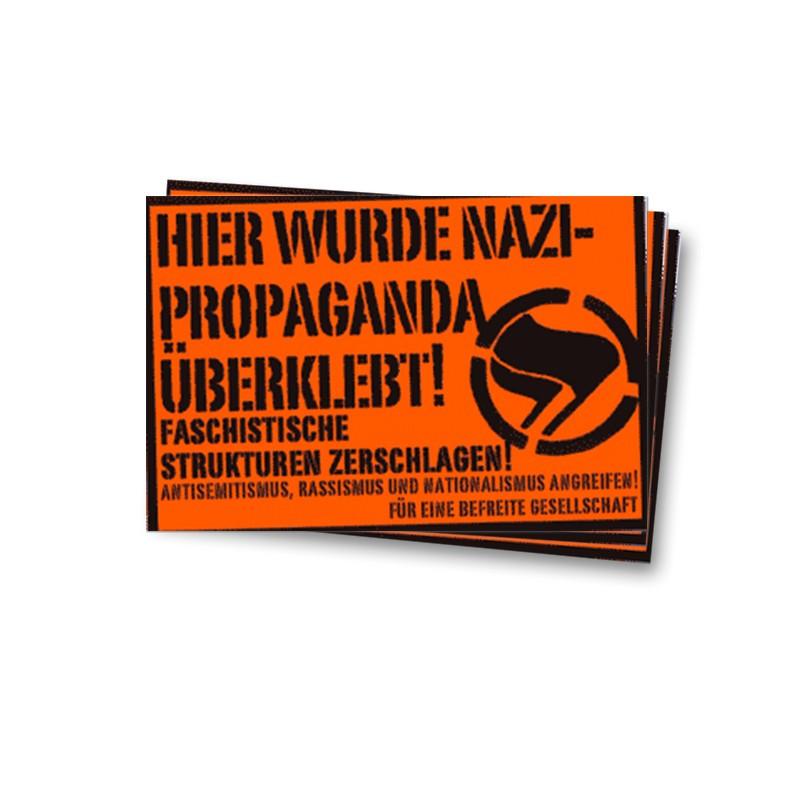 Hier wurde Nazipropaganda überklebt - Aufkleber - 30 Stück