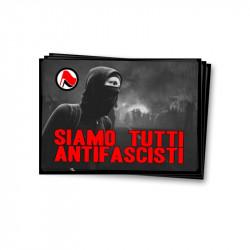 Siamo Tutti Antifascisti- Aufkleber - 30 Stück