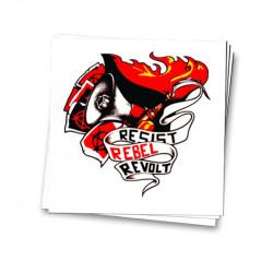Resist Rebel Revolt - Aufkleber - 30 Stück