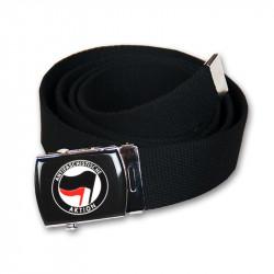Antifaschistische Aktion - schwarz/rot - Gürtel