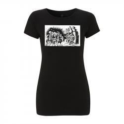 Drooker-Music vs. Military – Women's T-Shirt EP04