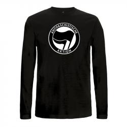 Antifaschistische Aktion - schwarz/schwarz – Longsleeve EP01L
