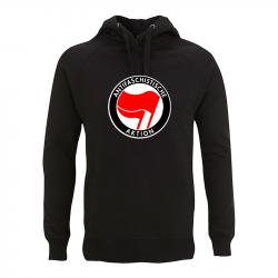 Antifaschistische Aktion - rot/rot – Kapuzenpullover N50P