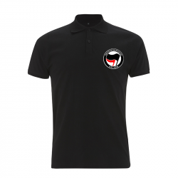 Antifaschistische Aktion - schwarz/rot – Polo-Shirt  N34
