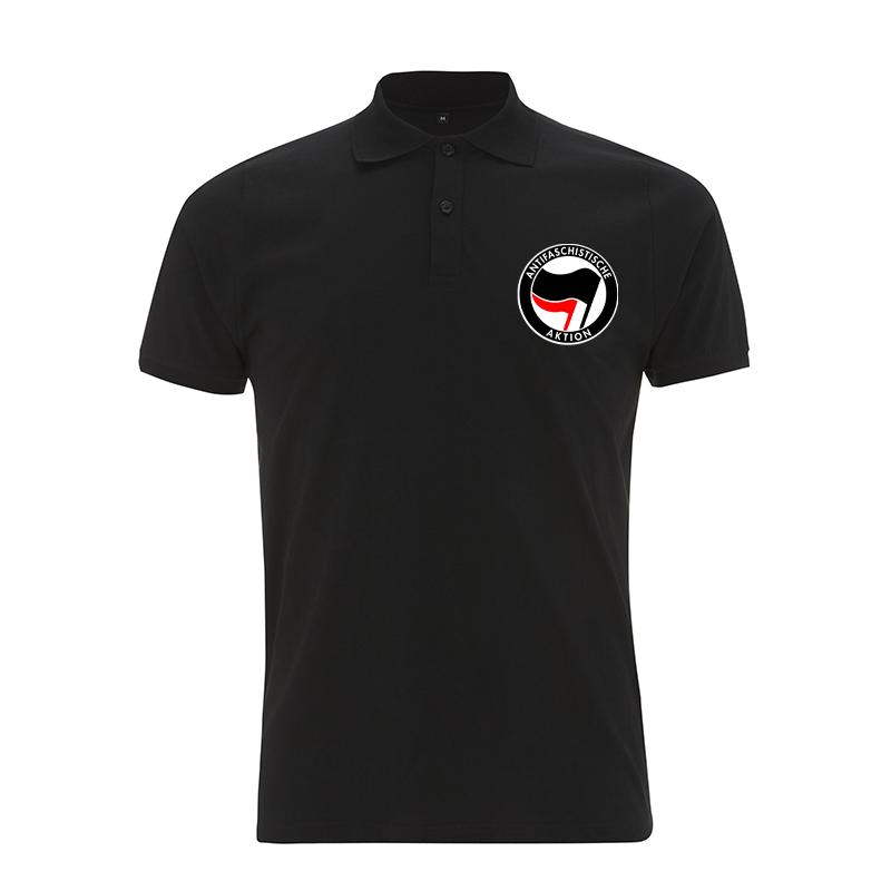 Antifaschistische Aktion - schwarz/rot – Polo-Shirt  N34