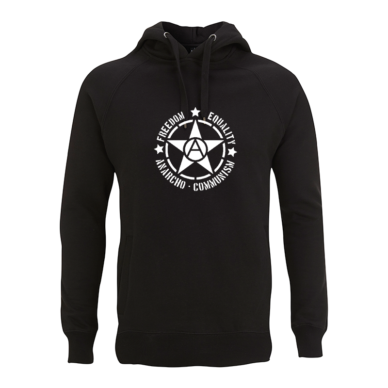 Freedom Equality Anarcho Communism  – Pullover Hoody N50P