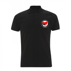 Antifaschistische Aktion - rot/schwarz – Polo-Shirt  N34