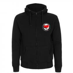 Antifaschistische Aktion - rot/schwarz – Kapuzenjacke N52Z
