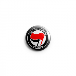 Antifaschistische Aktion - rot/schwarz – Button