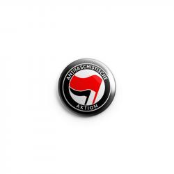 Antifaschistische Aktion - rot/schwarz – Button