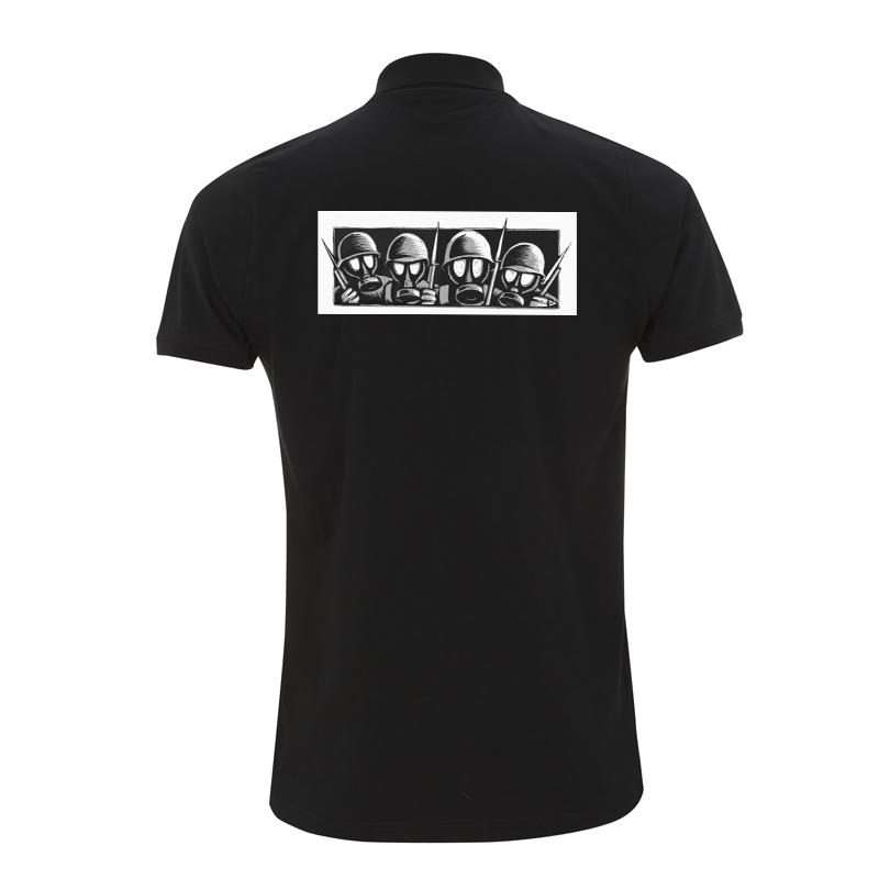 Drooker - Gasmasks – Polo-Shirt  N34