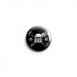 Skull Gasmask – Button