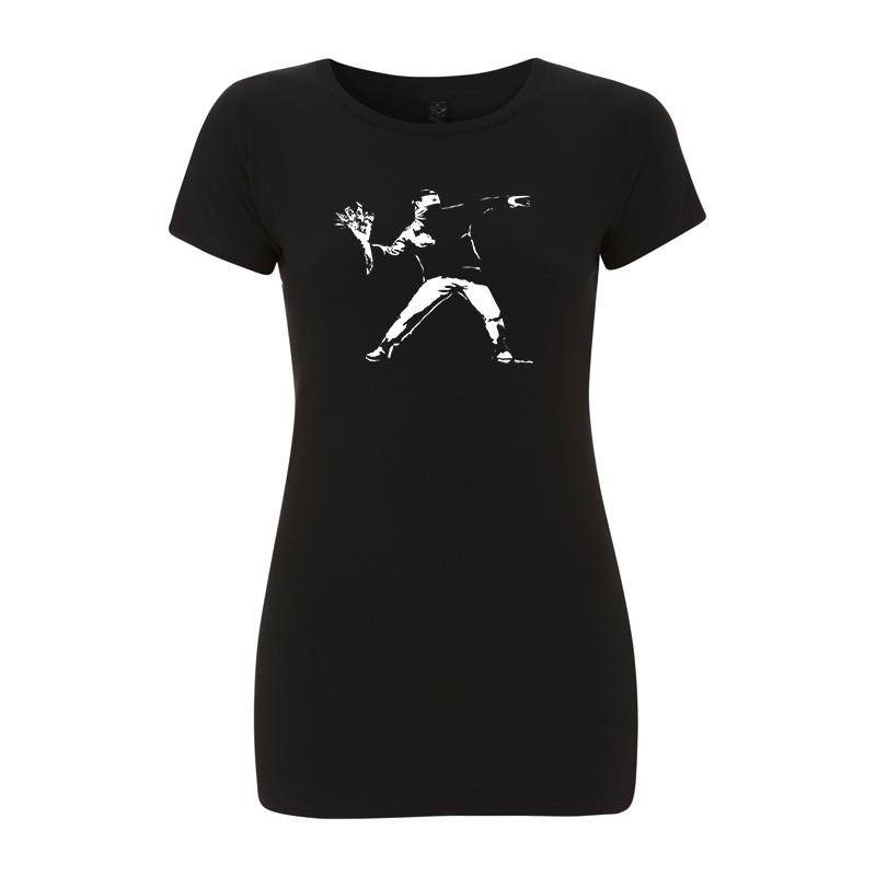 Banksy Flower – Women's  T-Shirt EP04
