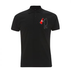 Anarchist and Flag – Polo-Shirt  N34