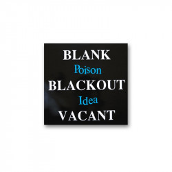 POISON IDEA - Blank blackout vacant -  LP